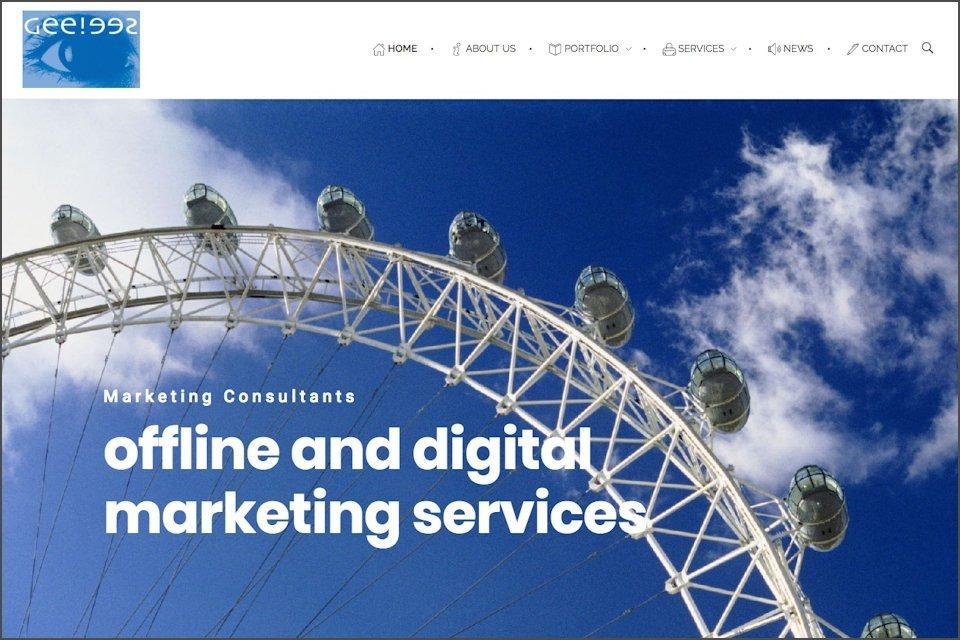 GC Advertising website homepage