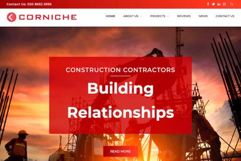 Corniche Construction homepage